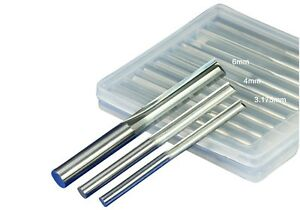 5x 6mm 1 4 Double Flute Straight Slot Cnc Router Bits Tungsten Carbide 6 42mm