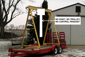 2 Ton Rolling Gantry Crane Use With Lodestar Coffing