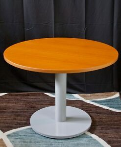 New And Contemporary Flexsteel Causeway 42 Round Conference Table honey Maple