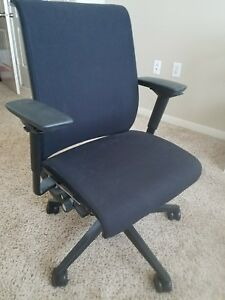 Steelcase Think Black Original Fabric With Lumbar Support Houston Local Pickup