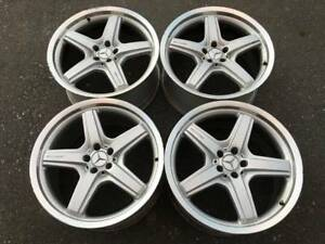 Nice Set Of Genuine 21 Amg Mercedes Gl63 Gl550 Rims In Good Used Condition