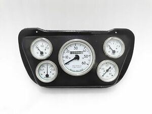 New Willys Jeep Complete White Face Speedometer Mounting Black Plate