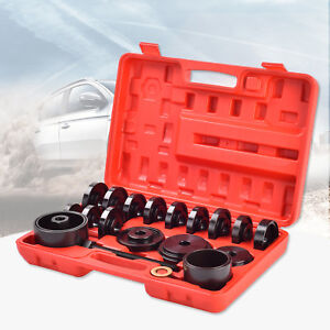 Modern 23 Pcs Front Wheel Bearing Press Kit Removal Adapter Puller Tool Case New