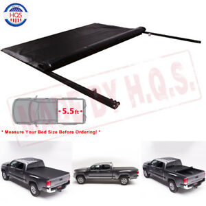 5 7 Ft Soft Roll Up Tonneau Cover For 2009 2017 Dodge Ram Crew 5 7 Truck Bed