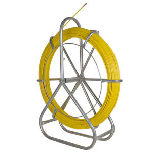 Fiberglass Wire Cable Rod Duct Rodder Fishtape 6mm 130m Use In Telecom Electrica