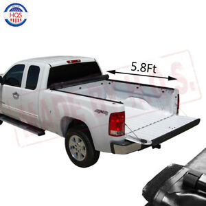 Soft Roll Up Tonneau Cover 5 8ft Bed For 2007 2013 Chevy Silverado Gmc Sierra