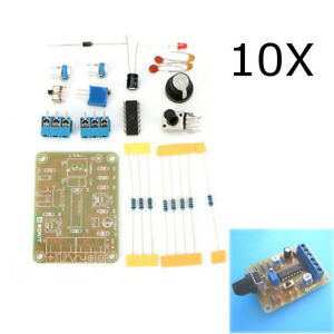 10pcs Dc12 Diy Icl8038 Function Signal Generator Kit Sine Triangle Square Wave S