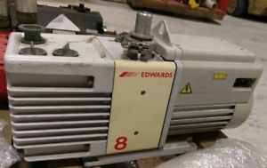 Edwards Rv8 A654 01 906 Two Stage Rotary Vane Vacuum Pump