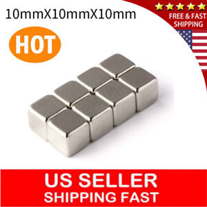 Lot 10 100 Super Strong Rare Earth Magnets Neodymium Block Magnet 10x10x10mm N35