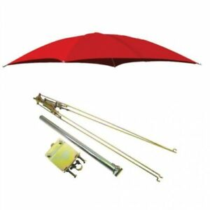 Rops Tractor Umbrella With Frame Mounting Bracket 54 10 Oz Duck Canvas Red