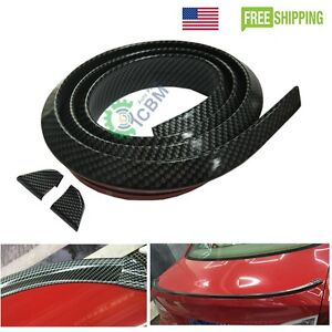 Universal Pu Trunk Lip Spoiler Or Roof Spoiler Body Kit Trim Sticker 4 9ft Usa