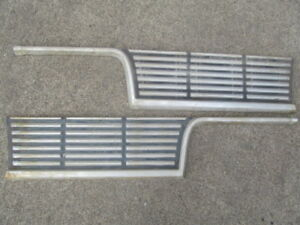 1964 Plymouth Rear Tail Panel Trim Mouldings
