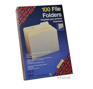 Case Of 5 Boxes Smead 15333 Manila File Folder Legal 8 5 X 14 1 3 Tab Cut