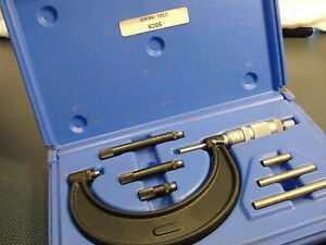 Pre owned Central Tool Co Micrometer Set 6205 In Case 0 4 Range Style Nice