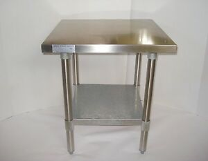 24x24 Stainless Steel Commercial Kitchen Calif Restaurant Equip Food Prep Table