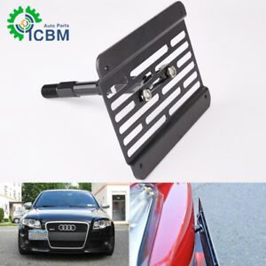Front Bumper Tow Hook License Plate Relocator Bracket For Audi A4 B8 Model 08 15