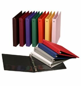 Assorted Colors 3 ring Binders 1 Inch Capacity 8 5 X 11 Case Of 12