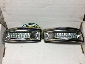 1963 1964 Studebaker Avanti Led Tail Light Set New 1750840 1750841 Show Chrome