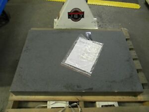 Granite Inspection Surface Plate 36 L X 24 W X 4 H Grade B No Ledge