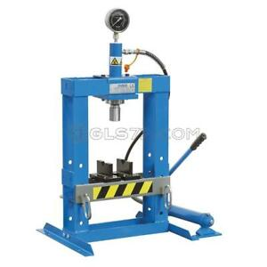Hydraulic Bench Press Workshop Garage Shop Heavy Duty 10 Ton Fervi P001 10