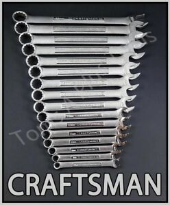 Craftsman Hand Tools 16pc Lot 12pt Metric Mm Combination Wrench Set