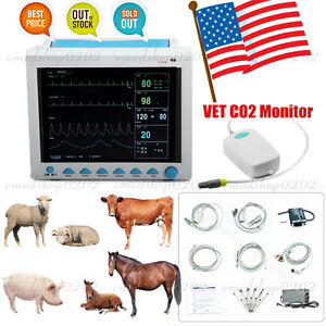 Contec New Veterinary Co2 Patient Monitor Vital Signs Icu Vet 6 parameter etco2