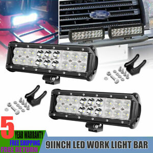 4x 4 Led Work Lights Pods Flood Offroad Lamp For Atv Jeep Car Ute Truck 4 Cube