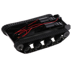 Shock Absorbed Rc Smart Robot Tank Chassis Kit Track Crawler W strong Motor