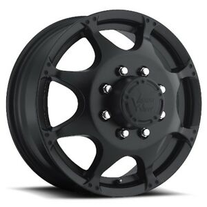 17x6 5 Vision 715 Crazy Eight 8x200 Et121 35 Matte Black Rims set Of 4