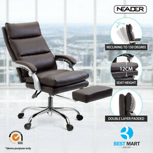 Neader Brown Pu Leather High Back Office Executive Task Ergonomic Computer Chair
