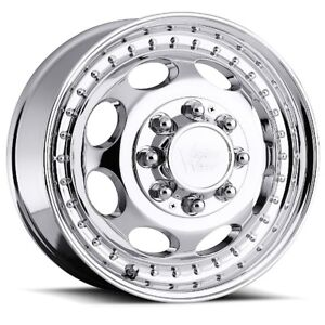 19 5x6 75 Vision 181 Hauler Dually 8x200 Et 143 Chrome Rims New Set 4