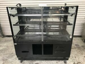 48 Dry Glass Bakery Display Case Cabinet 8472 Bread Donut Baked Goods Rack
