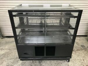 48 Dry Glass Bakery Display Case Cabinet 8473 Bread Donut Baked Goods Rack