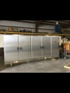 Huge Stainless Steel Electrical Cabinet 5 Door Located In Sanford Nc