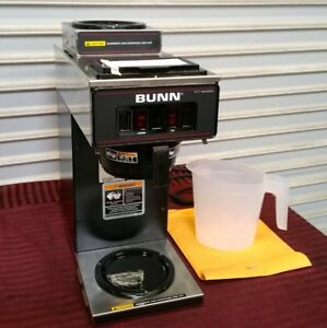 New 3 8 Gallon Commercial Coffee Maker Brewer Pour Over Bunn Vp17 2 Blk 3373