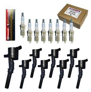 Set Of 8 Ignition Coils 8 Bosch Spark Plugs For 1997 2008 F150 F250 Expedition