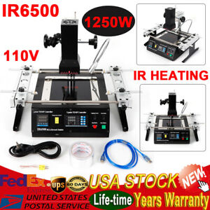 Ir6500 Bga Rework Station Repair Ir Heating Infrared Reballing Machine 1250w