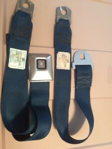 1971 Chevelle Cutlass Gto Deluxe Seat Belt 06a71 Blue