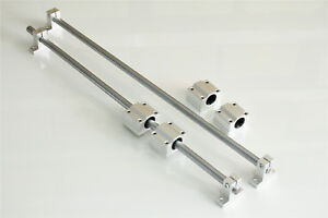 Shaft Optical Axis Support With Bearing Ball Slide Rail Od16 X 800mm