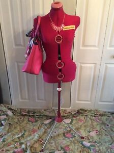 Vintage Retro Pink Sears Dial your twin Dress Form Mannequin Stand England