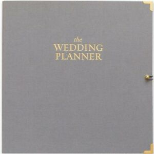 New J Crew Sugar Paper La Wedding Planner Grey Binder Gold Dividers Organizer