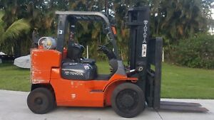 Toyota Forklift 12000 Lbs 7fgcu55 bcs Box Car Special Low Hours