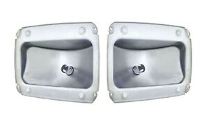 United Pacific F6401 1 2 1964 66 Ford Mustang Tail Light Housing Set Pair