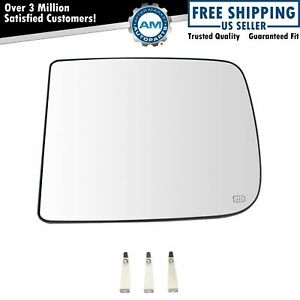 Towing Mirror Glass Heated 4 Clip Upper Driver Side Left Lh For Dodge Ram Pickup