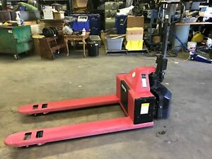 Dayton Semi Electric Pallet Jack 2200 Lb 24v Model 2leb4
