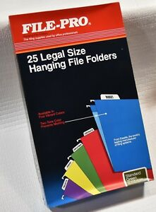 1 Case Of 250 File pro Legal Size Hanging File Folders 1 5 Cut 91535
