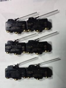 Micro Switch Ba 2rv a4 Snap Action Switches 20 A 2 5 Flat Lvr Lot Of 6