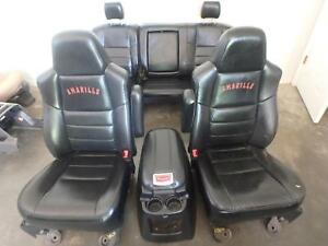 99 07 Ford F250 F350 Front Rear Seat Console Black Leather Power Heat Amarillo