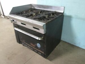 u s Range Pf 6 28a Commercial Hd nsf Natural Gas 6 Burners Stove W oven