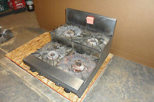 D Stainless Steel Commercial vulcan Counter Top N gas 4 Burner Step Stove